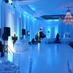 33. White Dance Floor + Ceiling Swags