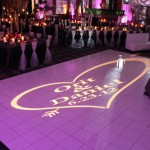 27. White Dance Floor + Gobo Lighting