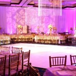 23. White Dance Floor + Draping + Gobo