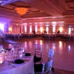 36. Uplighting + White Vinyl Dance Floor