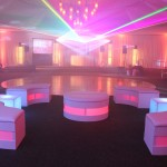 5. Circular Lounge Set + Uplighting+Draping