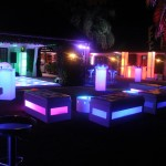 17. Glow Furniture Outdoor Setup + LED Dance Floor
