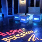16. Glow Lounge Furniture with Happy B'day Gobo