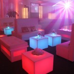 8. Tufted + Glow Sofa Setup