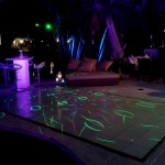 25. White Dance Floor + Laser Lighting