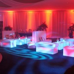 5. Uplighting + Gobo + Glow furniture