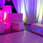 28. White Dancefloor + Lounge Setup