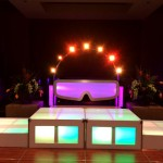 38. The DJ Workstation with Stage setup  with White Frame